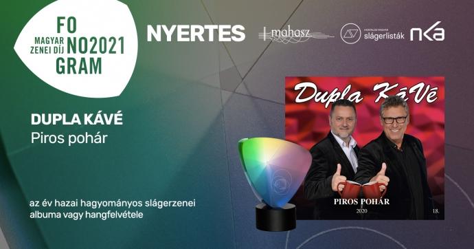 A DuplaKáVé nyert a Fonogram - Magyar Zenei Díj hazai hagyományos slágerzenei kategóriájában!