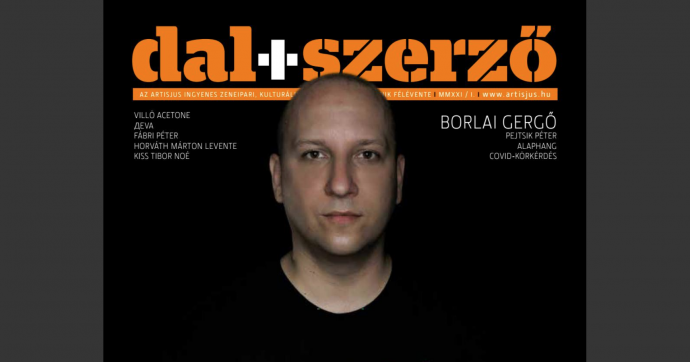 Címlapinterjú a Fonogram-díjas Borlai Gergővel a Dal+Szerző magazinban