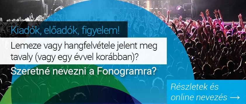 Fonogram - Magyar Zenei Díj 2016!