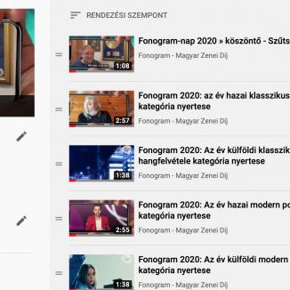 Nézd újra! A Fonogram 2020 nyertes videók egyben!