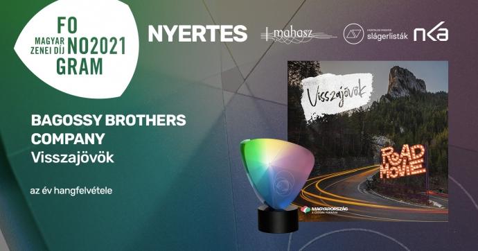 Idén is a Bagossy Brothers Company nyerte az év hangfelvételének járó Fonogram-díjat!